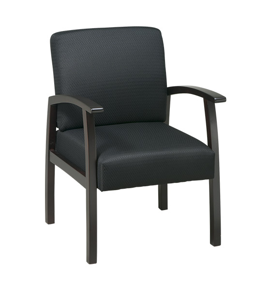 Work Smart Deluxe Guest Chair with Mid-Blue Fabric, Midnight Blue