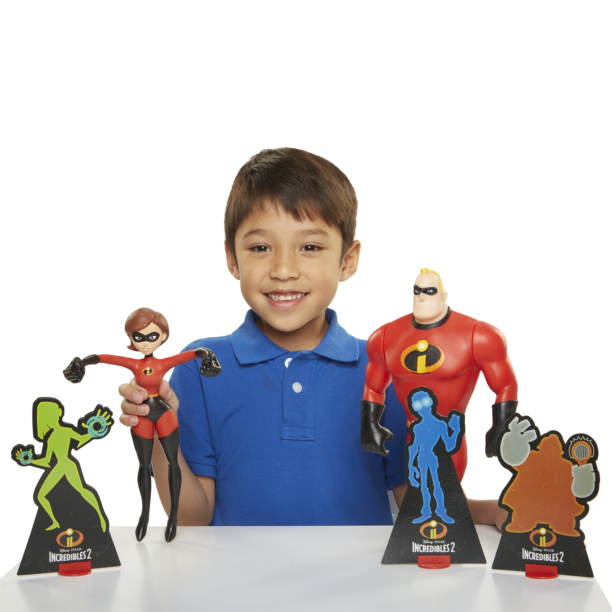 """Incredibles 2 Power Couple Mr. Incredible and Elastigirl 12"""" Action Figures with Slingshot Feature"""