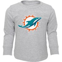 Product Image Toddler Heathered Gray Miami Dolphins Team Long Sleeve T-Shirt 111f39efe