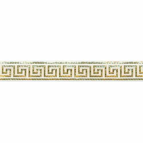 Greek Key Ribbon 7/8 Inch Wide 10 Yards-White