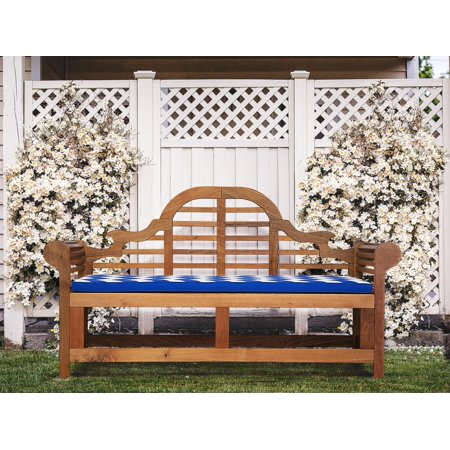 Garden Cushion Bench 3 Seater Pad Blue Chevron Marlboro