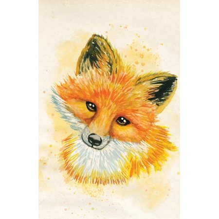 Journal Notebook for Animal Lovers Watercolor Fox: Blank Journal to Write In, Unlined for Journaling, Writing, Planning and Doodling, for Women, Men, Kids, 160 Pages, Easy to Carry Size - Blank Writing Journals