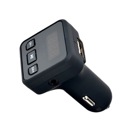 AGPtek Wireless In-Car Bluetooth FM Transmitter Radio Adapter Car ...