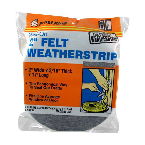 "2"" X 17' Nail-On Felt Weatherstrip - 3/16"" Thick"