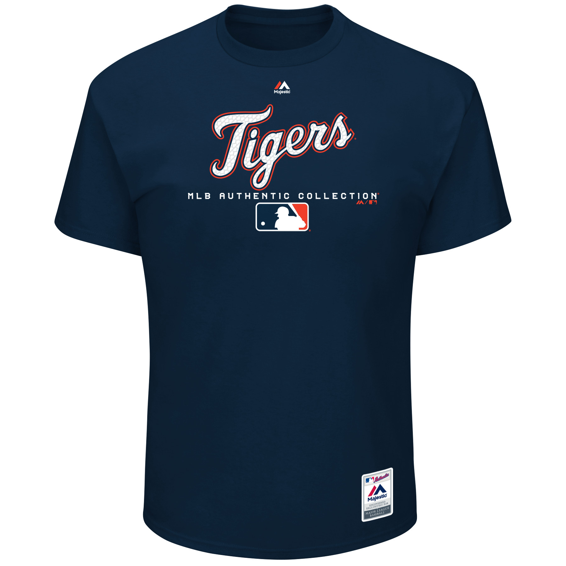 Detroit Tigers Majestic Authentic Collection Team Drive T-Shirt - Navy