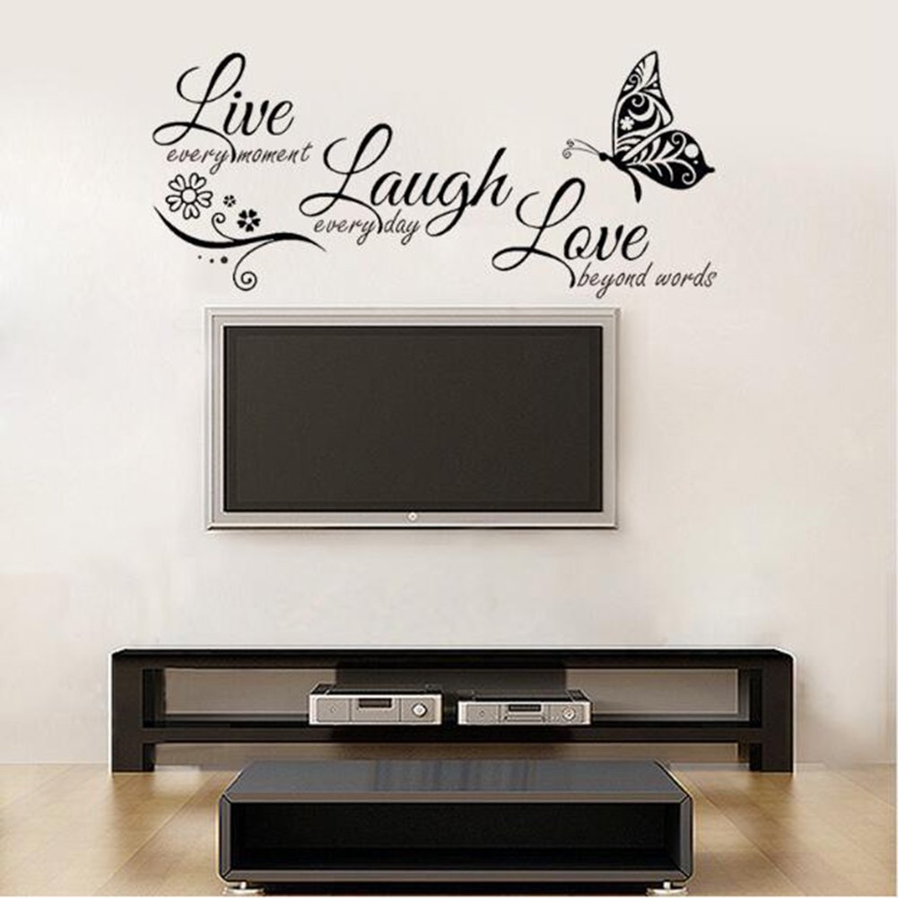 Live Laugh Love Quotes Butterfly Wall Art Stickers Living Room Decal Home Decor Walmart Canada