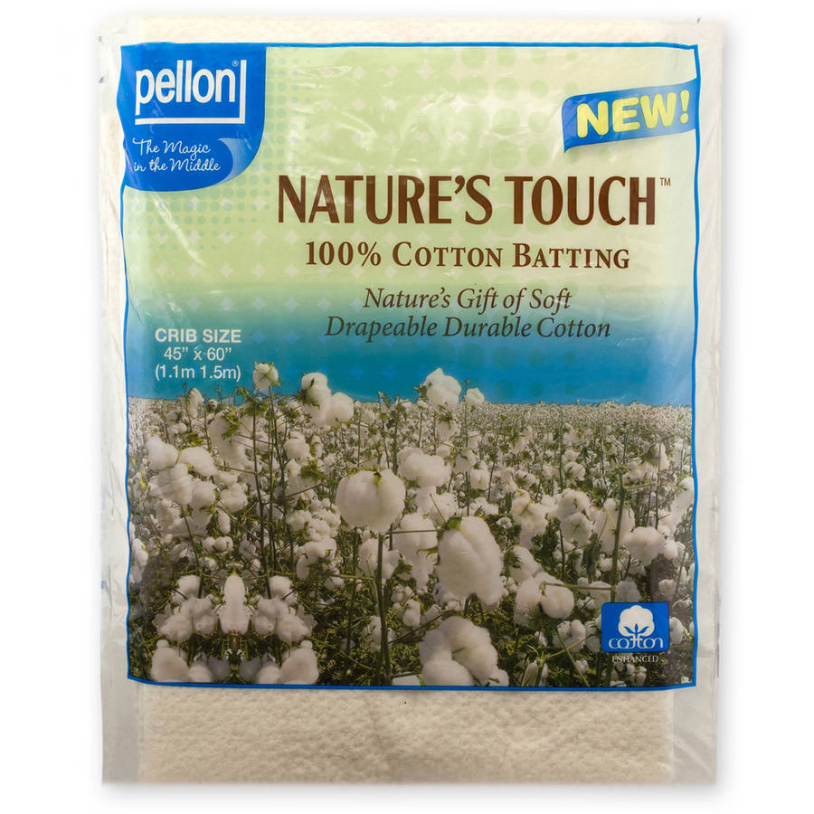 Pellon Nature's Touch Natural Cotton Packaged Batting, Available in Multiple Sizes