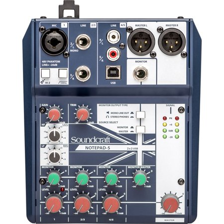 Soundcraft Notepad-5  Small Format Analog Mixing Console w/ USB