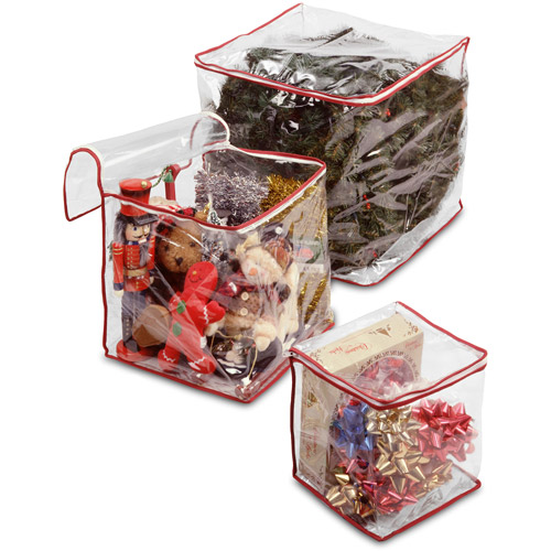 National Tree Heavy-Duty Clear View Storage Bag Holiday Assortment (S/M/L)