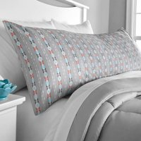 Deals on 2-PK Mainstays Microfiber 20 x 54-inch Grey Body Pillow Cover