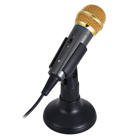 TRanshine PC-309 Mini Vocal/Instrument Microphone Portable Handheld Karaoke Singing Recording Mic with Stand Bracket Holder for Android Smartphone PC Mobile Phone Laptop Notebook - image 4 de 7