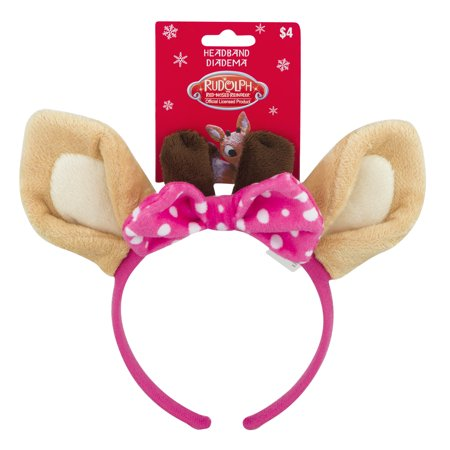 Rudolph The Red Nosed Reindeer 8 Inch Clarice Headband - Reindeer Antler Headband