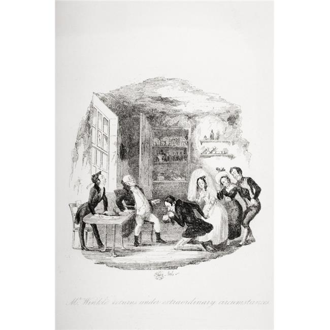 Posterazzi DPI1860232 Mr Winkle Returns Under Extraordinary Circumstances Illustration From the Charles Dickens Novel the Pickwick Papers by 1 Poster Print, 12 x 18 - image 1 de 1
