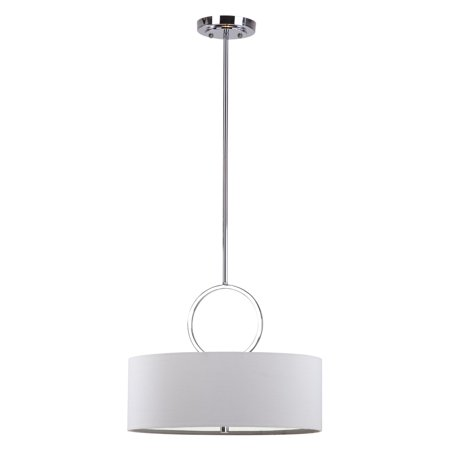 Safavieh Debonair 3-Light 18 in. Dia. Drum Adjustable Pendant, Chrome