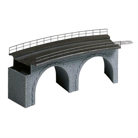 Faller HO Scale Structure Kit Cut Stone Viaduct Bridge Top Section Curved
