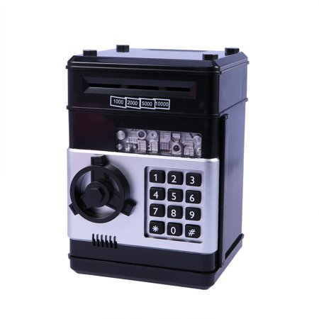 7d4be7772a17 Children's Money Saving Bank Deposit Box Intelligent Voice Mini Safe and  Coin Vault for Kids with Pass Code (Black)