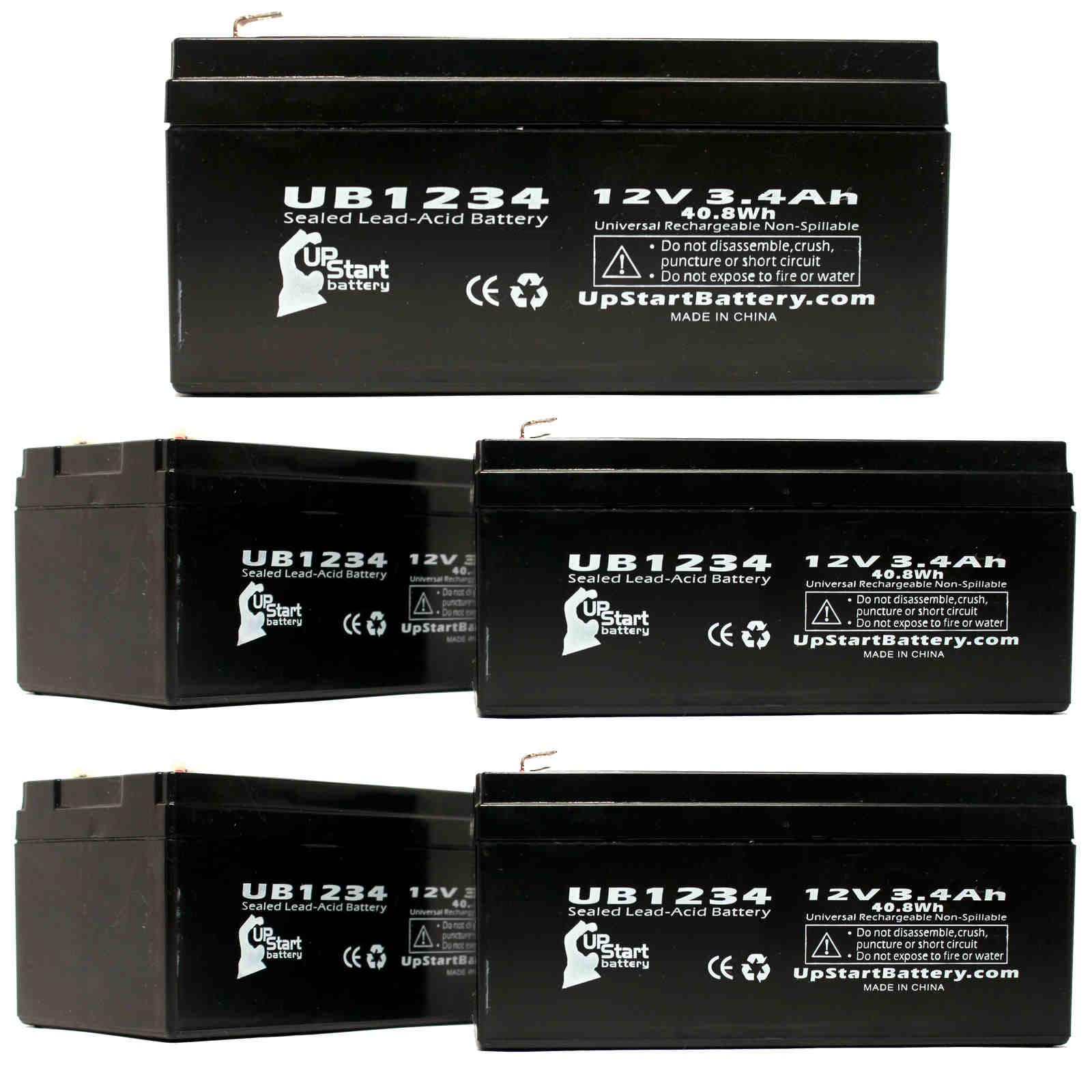 UpStart Battery 5-Pack UB1234 Universal Sealed Lead Acid ...