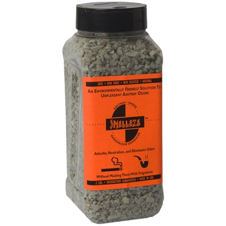 SMELLEZE Natural Ashtray Smell Remover Deodorizer: 2 lb. Granules Rid Smoke (Best Way To Get Rid Of Smoke Smell)