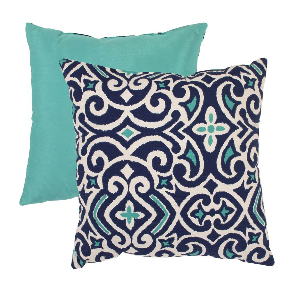 Pillow Perfect Damask Polyester Throw  Pillow
