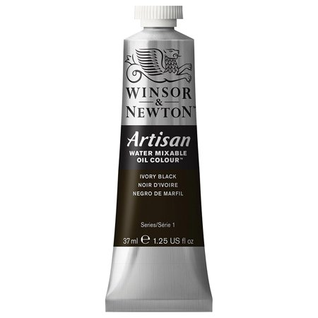 Winsor & Newton Artisan Water Mixable Oil Paint, Ivory Black