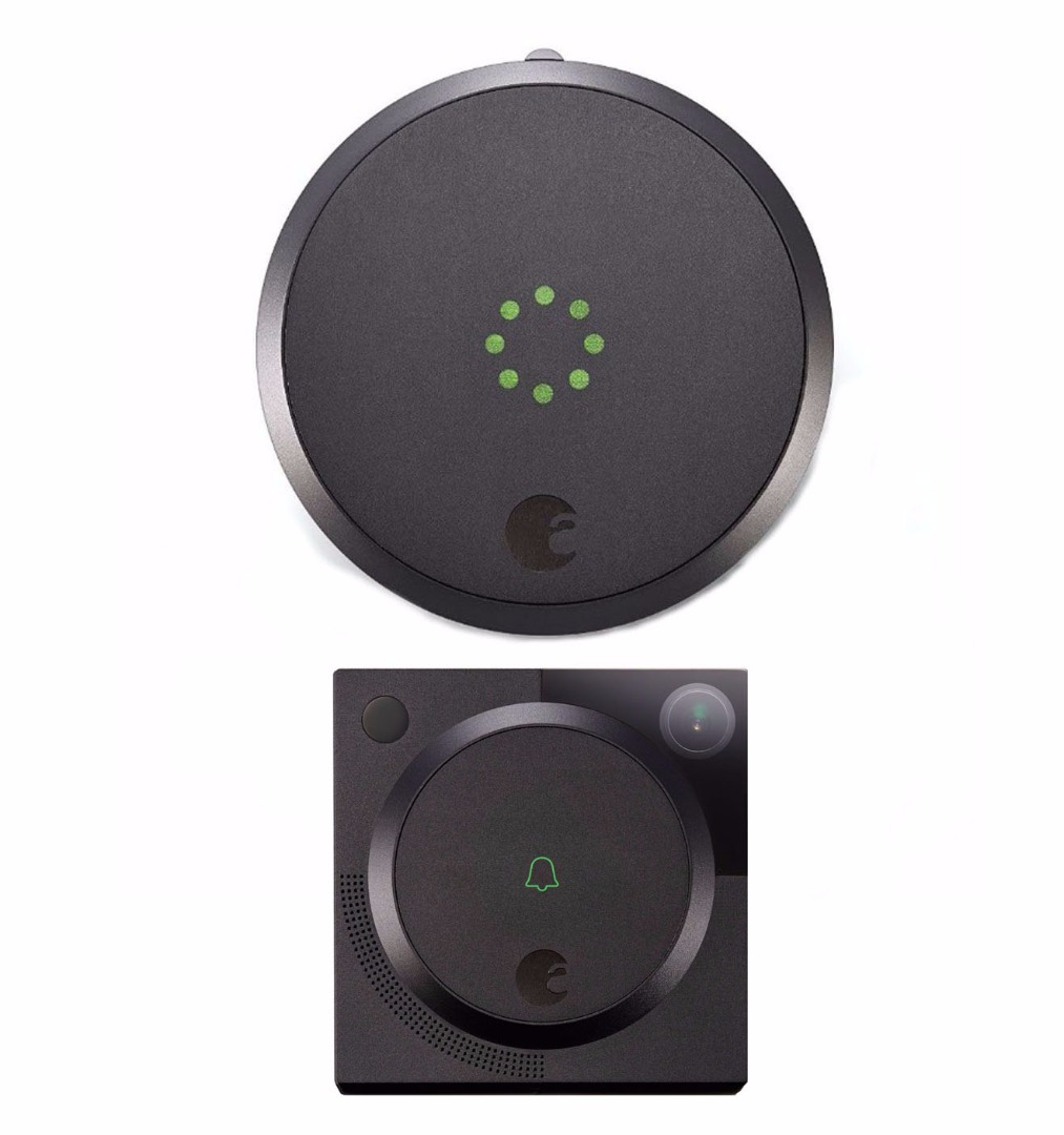 August Smart Lock with Video Doorbell Cam (Dark Gray) by August Home