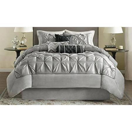 Madison Park Laurel Comforter Set, Queen, Grey - image 3 of 5