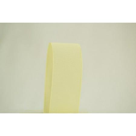 - Ribbon Bazaar Solid Grosgrain Ribbon 1-1/2 inch Ivory 50 yards 100% Polyester