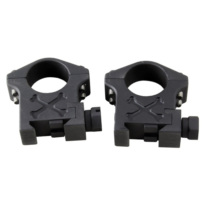 Talley 1 Inch High Tactical Picatinny Rings Black Armor - BAT10H