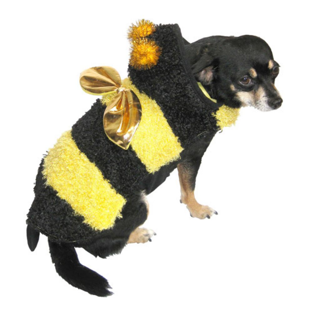 Plush Yellow Bee Dog Costume Bumblebee Pet Outfit