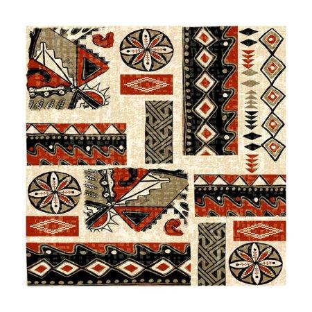 Southwest Contemporary Art (Southwest Textile II Print Wall Art By Nicholas Biscardi )