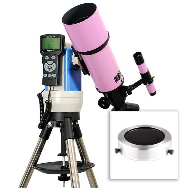 Twinstar EclipseFINDER 80mm Computer Controlled Refractor Solar Eclipse Telescope,Pink
