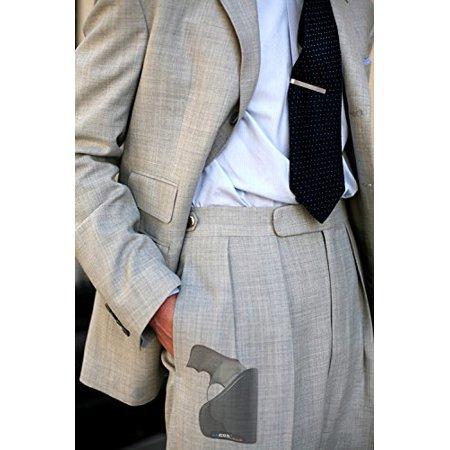 Garrison Grip Custom Fit Leather-Trimmed Pocket Holster Concealed Carry Comfort, Ruger LCR (Best Concealed Carry Holster For Ruger Lcr)