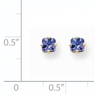 14K Yellow Gold Tanzanite Earrings - image 1 of 2