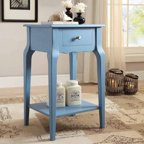 Osp Designs Helena Entryway Table With Mirror Panel Greco