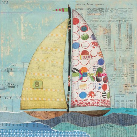 At the Regatta I Sail Sq Poster Print by Courtney Prahl