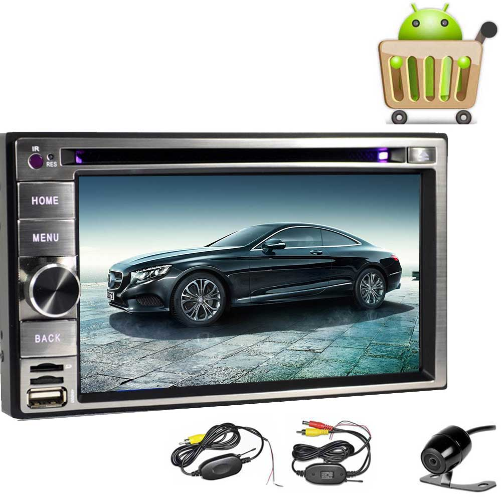 Double Din Car Stereo with Android 6.0 Quad Core 6.2 Inch...