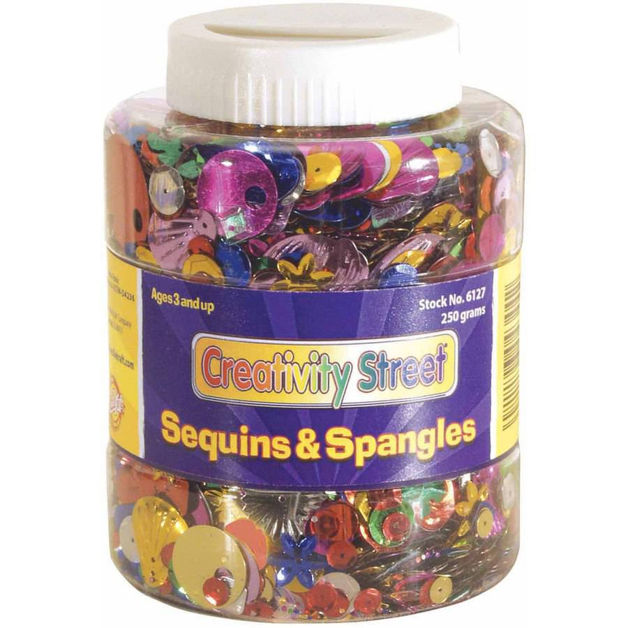 Chenille Kraft, Sequin and Spangle Shaker Jar, Assorted Sizes/Colors, 8.8 Ounces