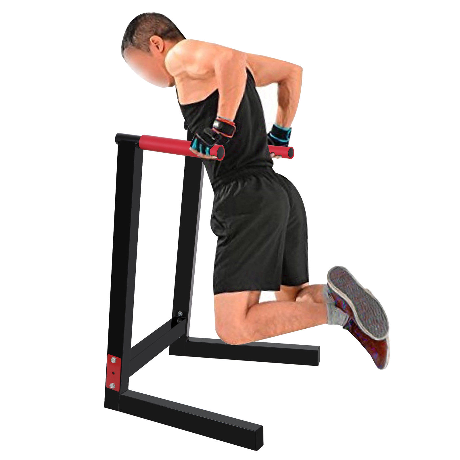 Zeny Heavy Duty Steel Dip Stand Parallel Bar Fitness Home Gym Dipping Station 440LBs