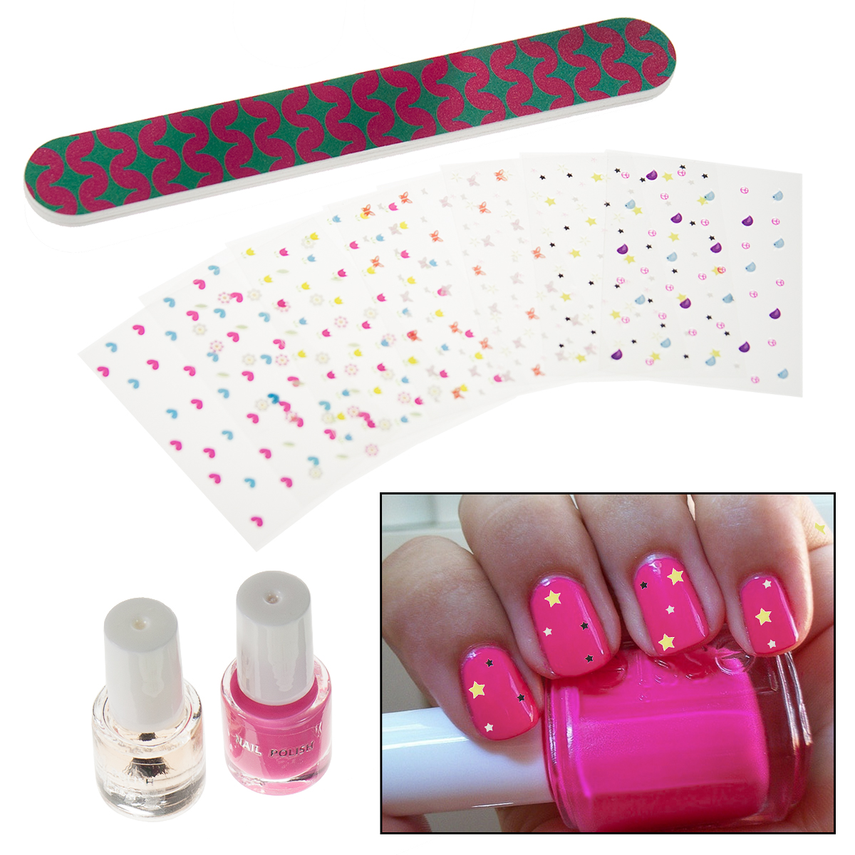 Nail Art Stickers Kit Days Of The Week Designs File For Kids Mani Polish Tools