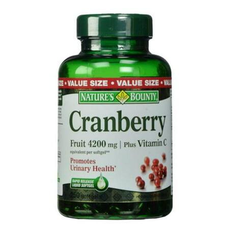 Cranberry Plus Vitamine C 4200 mg gélules 250 ch (Paquet de 4)