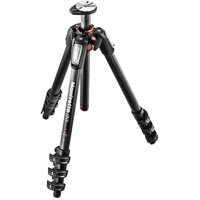 Manfrotto MT055CXPRO4 055 Carbon Fiber 4-Section Tripod with Horizontal Column (Black)
