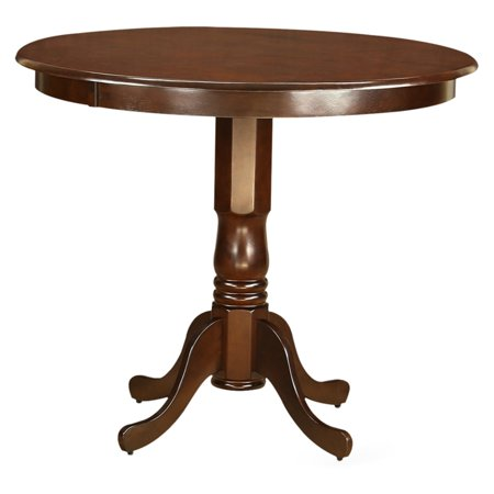 East west furniture trenton 42 inch round pedestal counter for 42 inch round dining table