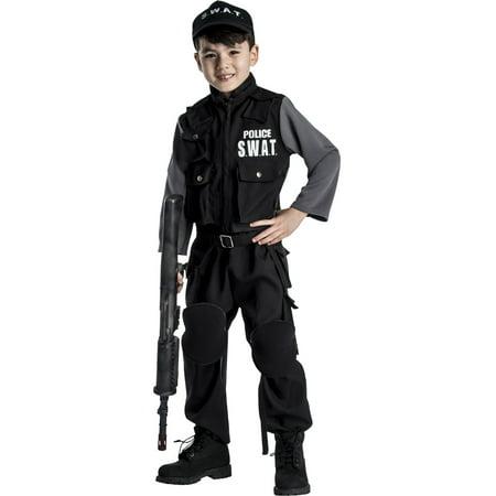 Jr. SWAT Team Costume - Size Large 12-14 - Swat Team Helmet