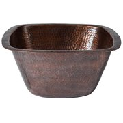 Barclay Hand Hammered Copper Medium Square Bar/Prep Sink