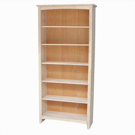 Alder Unfinished Bookcase - Pemberly Row Unfinished 72