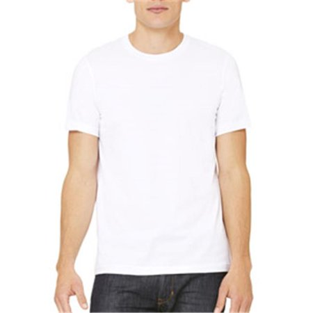 Canvas 3001 Unisex Jersey Short-Sleeve T-Shirt, White, Extra Small Solid Unisex T-shirt