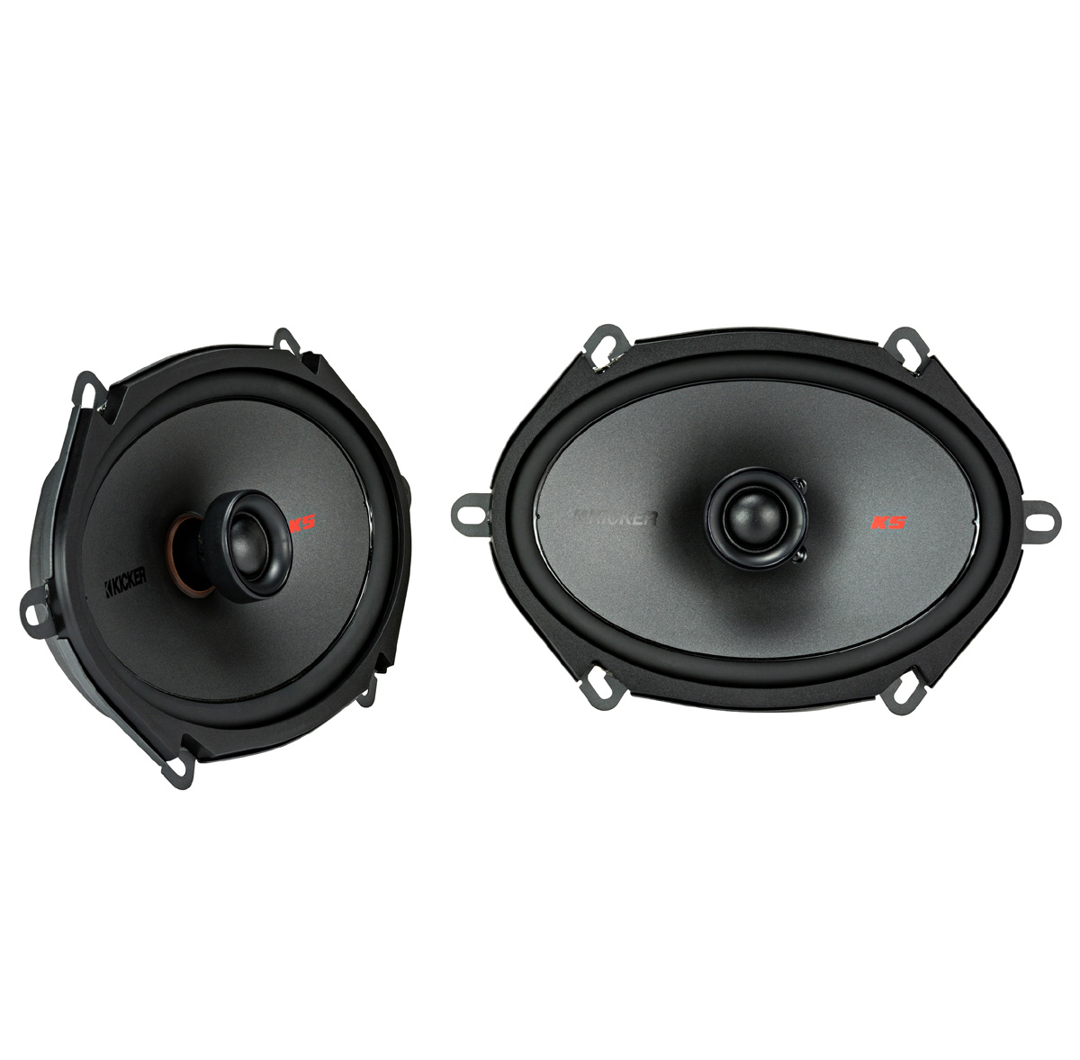 "KICKER 44KSC6804 6x8"" (160x200mm) Coax Spkrs w/.75""(20mm) tweeters, 4ohm, RoHS Compliant"