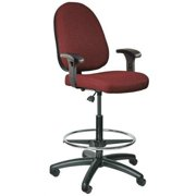 "BEVCO Task Chair 25"" to 35""H, Burgundy, 6500-4550/5-A5 burgundy fabric"