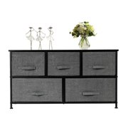 SalonMore Dresser with 5 Drawers, Dressers for Bedroom, Fabric Storage Tower, Hallway, Entryway, Closets, Sturdy Steel Frame, Wood Top, Easy Pull Handle