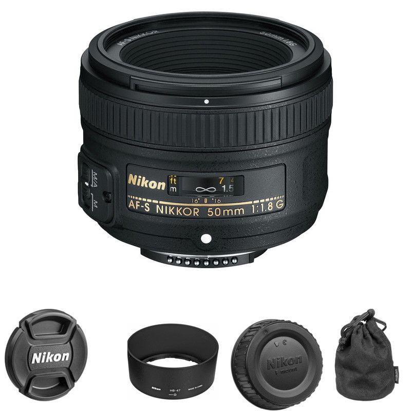 Nikon 50mm f/1.8G AF-S NIKKOR Lens for Nikon DSLR Cameras, NEW